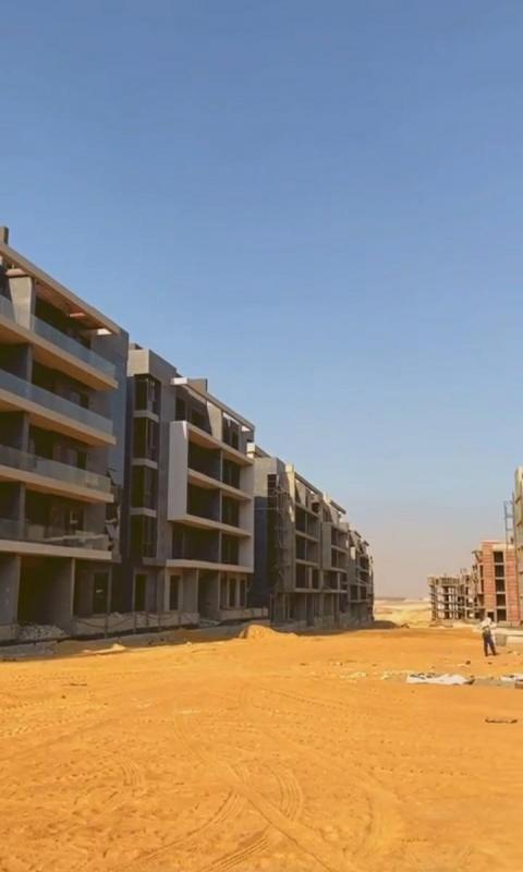 For Sale Ground Apartment by 8 years in El Patio Oro كمبوند الباتيو التجمع