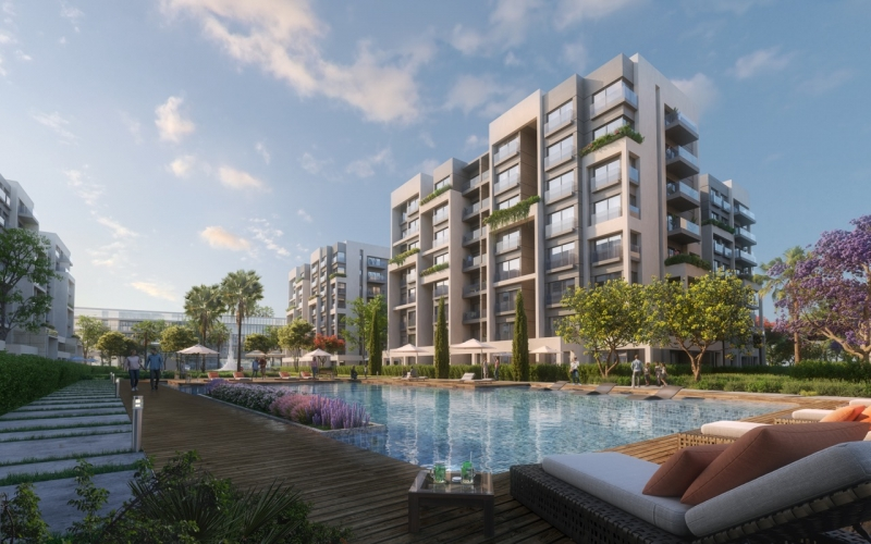 apartment 160Sqm for sale with installments in Residence 8 - New Capital