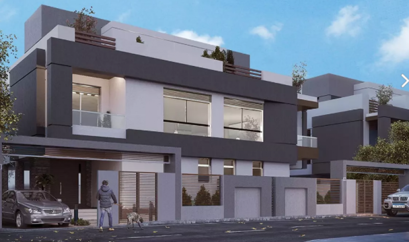 town house middle for sale with installments in blue verd - New Capital
